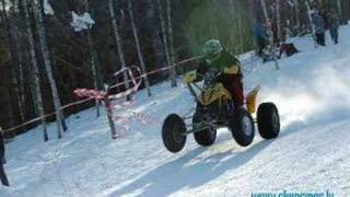 Quad Winter Riding. Latvia