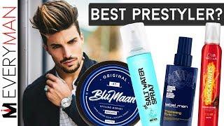 BEST MEN'S HAIR PRE-STYLER? | Mousse VS Thickening Tonic VS Salt Spray VS Meraki