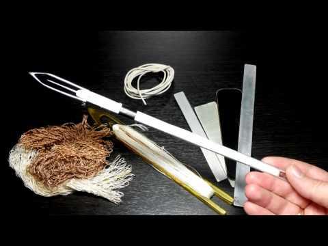 Как сделать самый тонкий рыболовный челнок. Netting Needle. Часть 3 на tubethe.com
