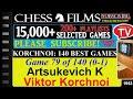 Chess Korchnoi 140 Best Games 79 Of 140 Artsukevich K Vs Viktor Korchnoi mp3