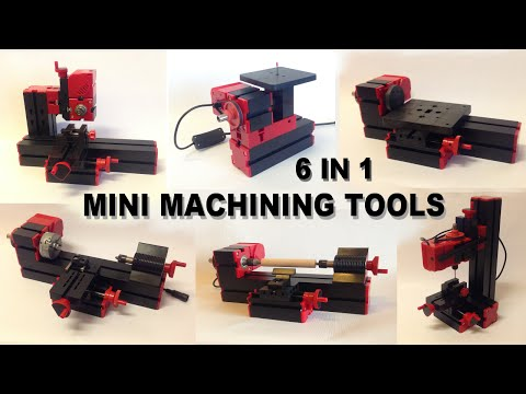6 in 1 Mini Machining Tools. Unboxing and Assembly.