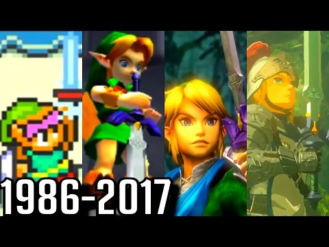 Evolution of Master Sword Cutscenes in Zelda Games (1986-2017)