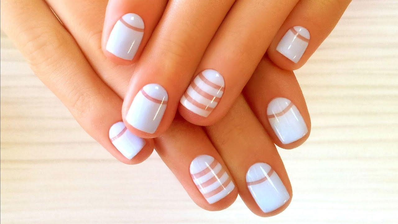 Лунный дизайн ногтей шеллак фото на короткие ногти