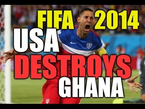 GOALS USA vs Ghana 2014 FIFA WORLD CUP SOCCER