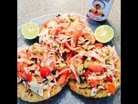 Tostadas de Jaiva / Crab Meat Tostadas (How To) (Mom)