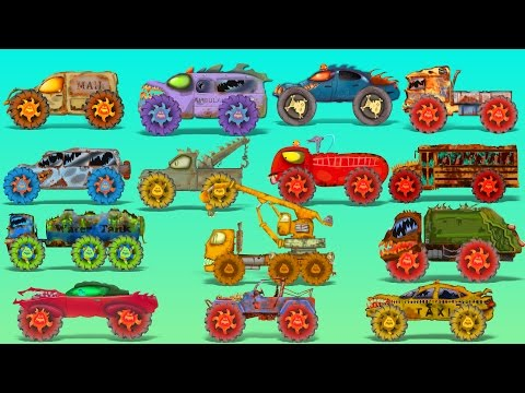 Street vehicles | Scary Vehicles | Learn Transports | Halloween videos for kids