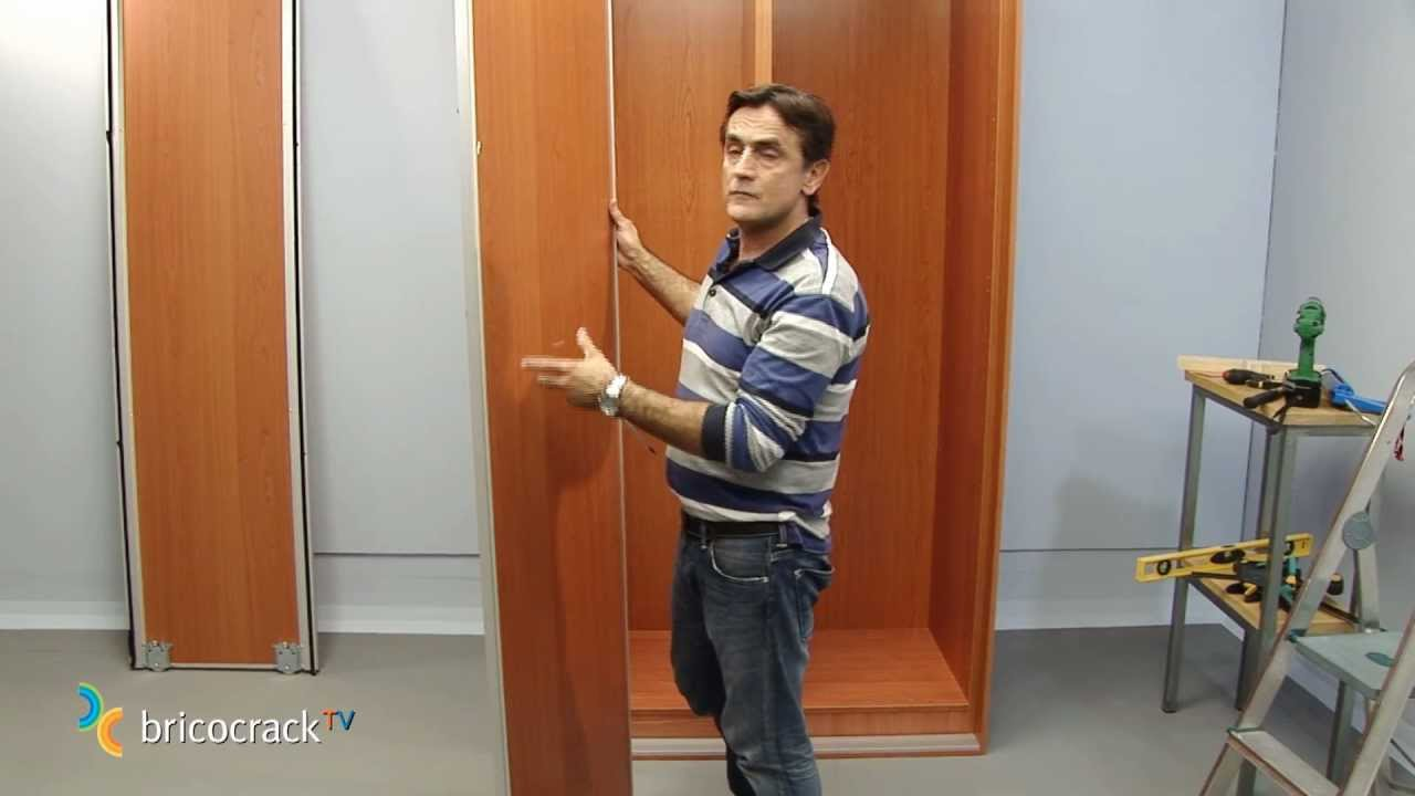 Instalar un armario en kit puertas correderas bricocracktv youtube - Kit puertas correderas armarios ...