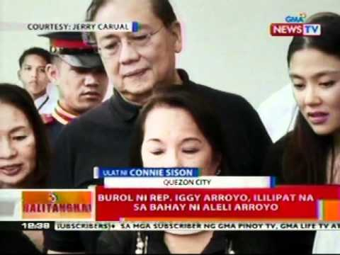 BT: Burol ni Rep. Iggy Arroyo,   ililipat na sa bahay ni Aleli   Arroyo