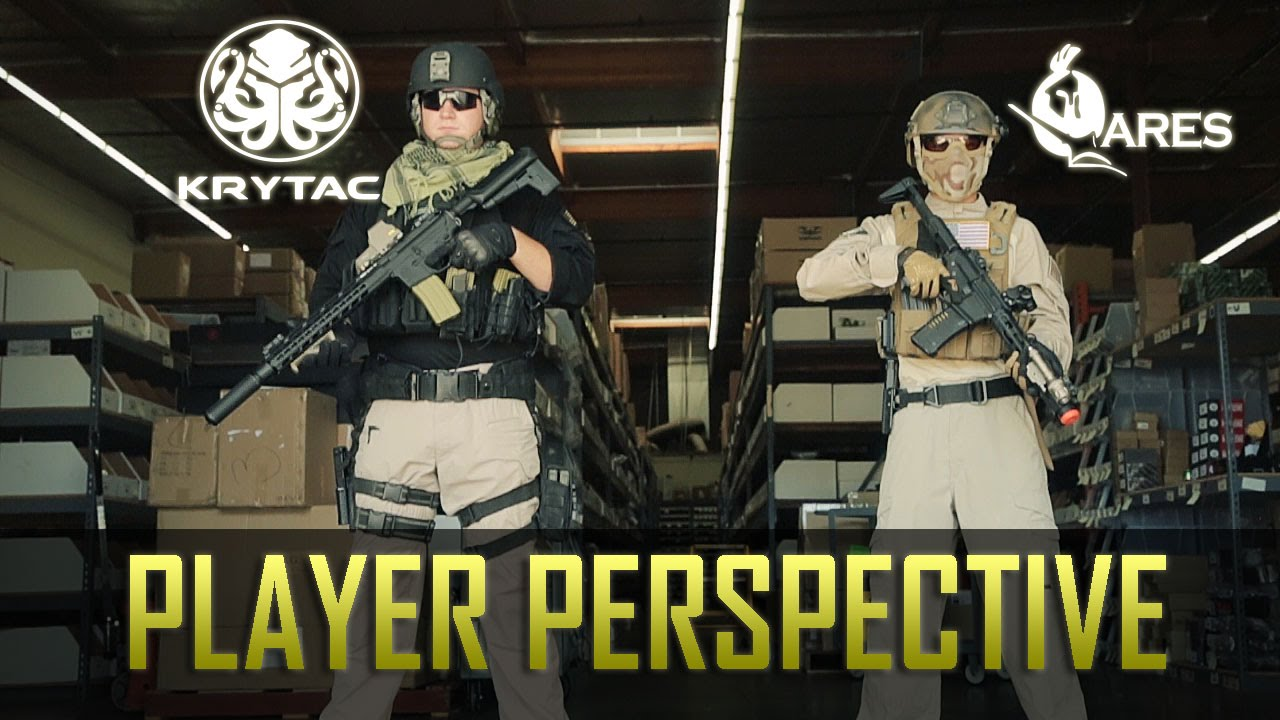 players perspective krytac trident m4 spr ares amoeba am 013 airsoft gi youtube. Black Bedroom Furniture Sets. Home Design Ideas