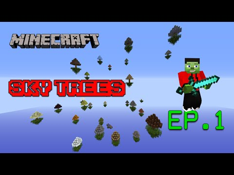 Mapa de Supervivencia 1.8/1.9 - Sky Trees EP.1   Minecraft