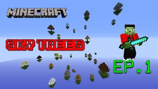 Mapa de Supervivencia 1.8/1.9 - Sky Trees EP.1 | Minecraft