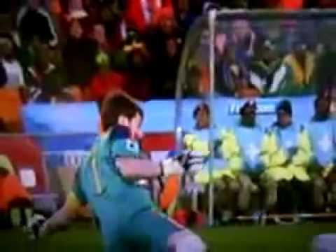 WK Voetbal 2010 Finale Nederland Spanje Kans voor Arjen Robben nederland spanje