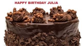 Julia pronunciacion en espanol   Cakes Pasteles - Happy Birthday
