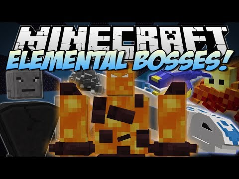Minecraft | ELEMENTAL BOSSES! (Land Sharks, Leviathan, Fire Golems & More!) | Mod Showcase