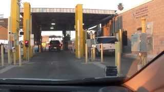 USA Border Crossing, Secondary Inspection, Los Algodones, Mexico, Andrade, California