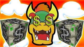 CASH MONEY LUCKY BLOCKS! Bowser's Castle Money Block Mod PVP Mini-Game!