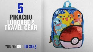 "Top 10 Pikachu Luggage & Travel Gear [2018]: Pokemon 16"" ""Pokeball"" Front Pocket Backpack"