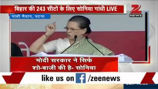 People have no faith left in Modi government: Sonia Gandhi at Swabhiman rally