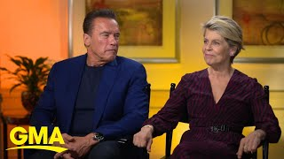 Arnold Schwarzenegger and co-star Linda Hamilton return to 'Terminator'