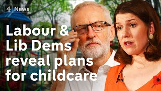 Labour and Lib Dems promise more childcare support as Tories pledge more GPs