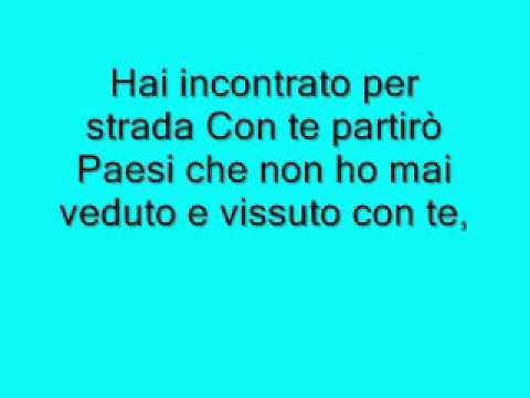 letra volare italiano: