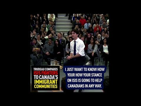 Justin Trudeau comparies ISIS fighters to Canada's immigrant communities