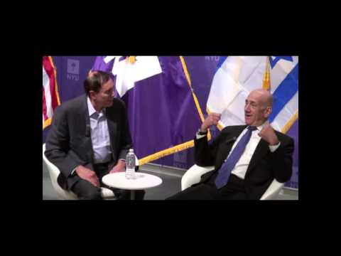 Alon Ben-Meir in discussion with Ehud Olmert