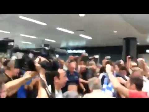 De Vrij: l'arrivo all'aeroporto di Fiumicino