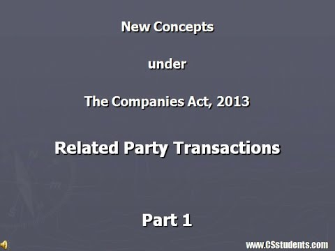 Related Parties under the Companies Act, 2013 (Part 1)