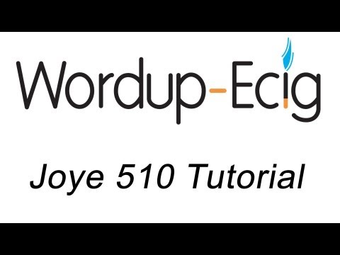 Joye 510 Tutorial - WordupEcig.com