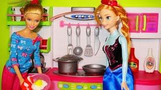 Barbie Chef I can be Kitchen toyset  Disney Frozen Princess Anna Doll, Barbie cocina Princesa Anna