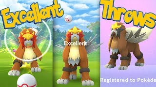ENTEI Excellent Throws EVERY TIME! How To Hit More Excellent Throws + SHINY ENTEI | Pokémon Go
