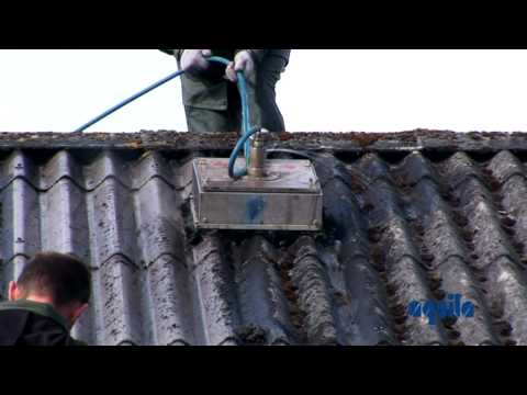 Aquila Triventek Cleaning Of Asbestos Roof With High