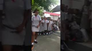 School girls dancing