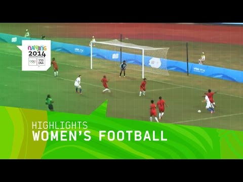 Women's Football Slovakia vs Papua New Guinea - Highlights | Nanjing 2014 Youth Olympic Games