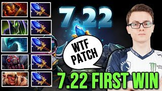 MIRACLE 7.22 PATCH - FIRST WIN with Full Team Scepter - WTF New Patch Dota 2 Gameplay