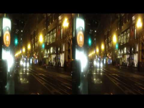 Market Street at Night in the Rain,   San Francisco