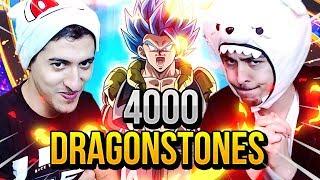 DUEL INVOCATION GOGETA BLUE / BROLY ! 4000 DRAGONSTONES DOKKAN BATTLE !