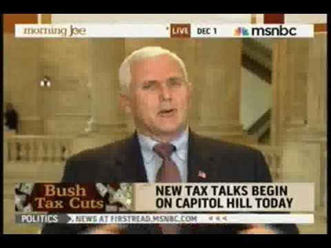 INDIANA REPUBLICAN SENATOR MIKE PENCE SAYS SCREW THE UNEMPLOYED & POOR - KEEP TAX CUTS FOR THE RICH