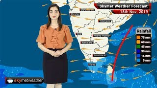 Weather Forecast Nov 18: Rain in Chennai and Bengaluru, foggy morning in Delhi