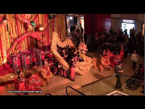 Chinese New Year Dragon & Lion Dance Performance 2015 @ TaiKoo Shing - Kwok's Team