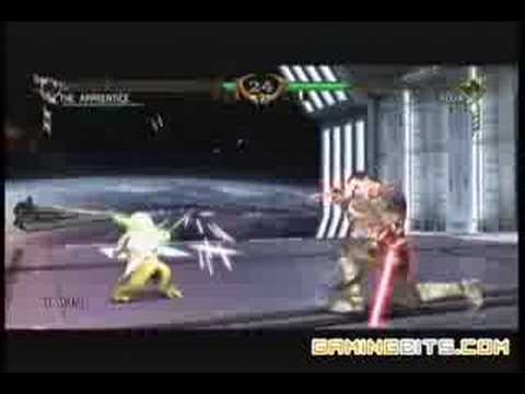 Soulcalibur IV - The Apprentice Vs. Yoda Gameplay