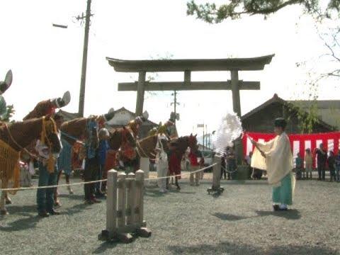 阿蘇神社田実祭 3年ぶりに流鏑馬の奉納