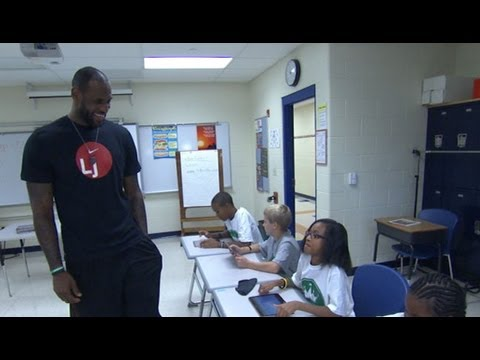 Lebron James Interview 2013: Miami Heat Star Brings Robin Roberts to Hometown School