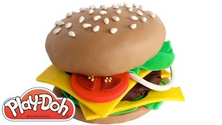 Play Doh How to Make a Hamburger with Play Doh RainbowLearning