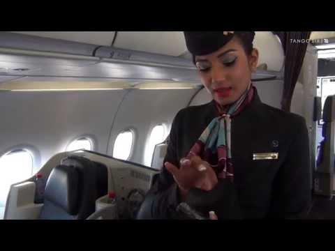 "Qatar Airways ""Premium One"" all-business A319 video tour"