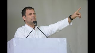 Congress President Rahul Gandhi addresses the gathering at the national convention of Sevadal