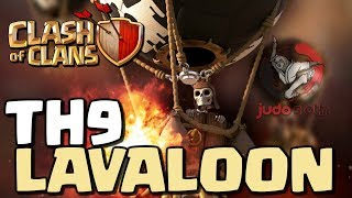 LAVALOON - The BEST Attack Strategy at TH9 in Clash of Clans [2018]