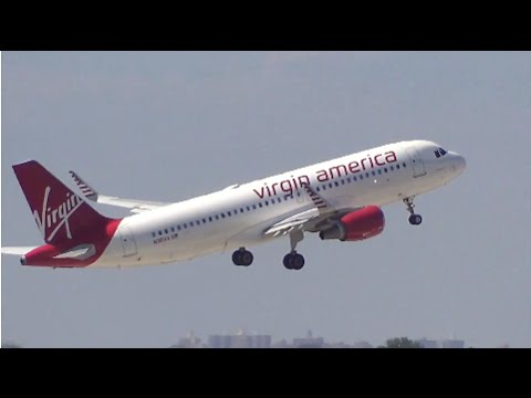 [HD] Virgin America Airbus A320 N361VA with Sharklets Takeoff from New York (KJFK)