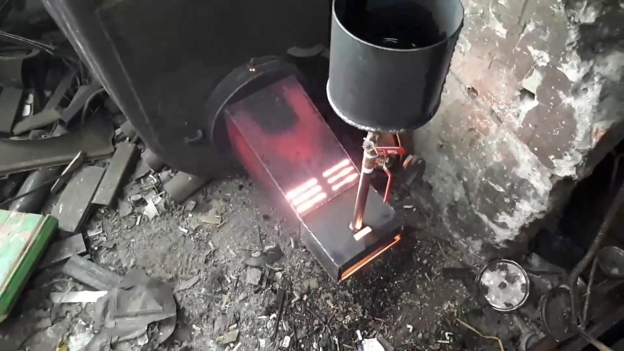 354Горелка в печь на отработанном масле своими руками